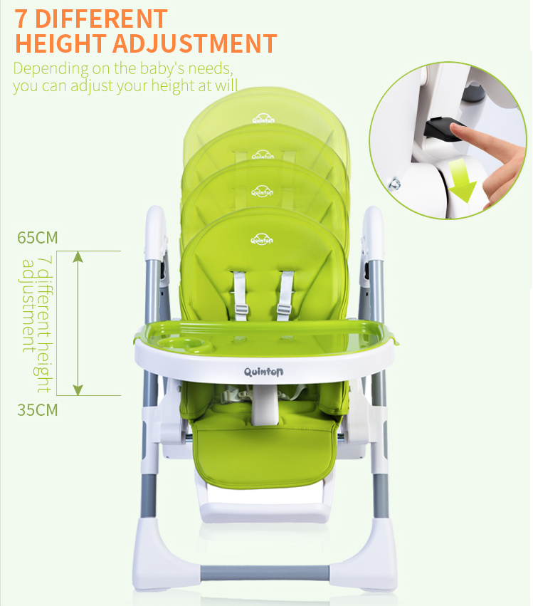 Baby High Chiar 7 different height adjustment