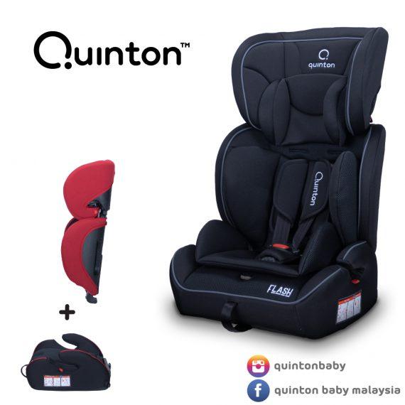 Quinton Flash Booster Seat- Black